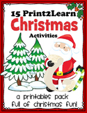Christmas Activities (15 Holiday Printables)