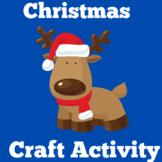 Christmas Craft | Preschool Kindergarten 1st Grade | Reindeer Craft Activity