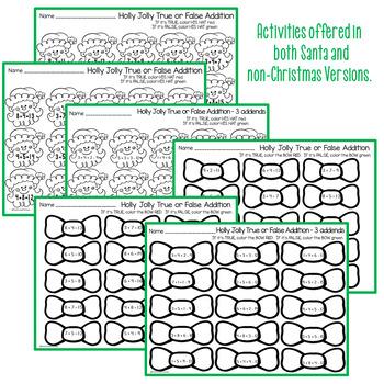 Christmas Ready, Set, Print ELA and Math