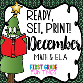 Christmas Ready, Set, Print ELA and Math