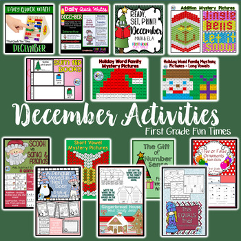 Christmas Activities Bundle for Primary Grades