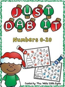 Christmas Bingo Dauber Printables - Numbers 0-20