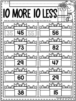 Christmas Activities for First Grade {Math and Literacy No Prep Printables}