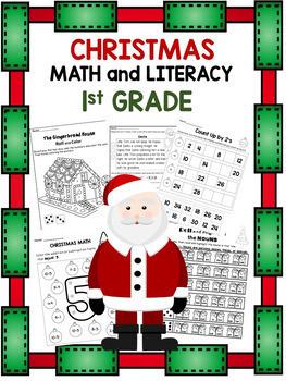 First Grade Christmas Activities NO PREP {Math and Literacy}