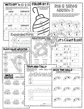 Christmas Activities 1st Grade BUNDLE ~ 1st Grade Christmas Math and Literacy