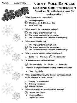 Christmas Activities: Polar Express Christmas Activites Packet