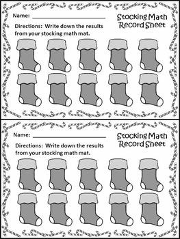 Christmas Game Activities: Christmas Stocking Math Puzzles Christmas Math Center