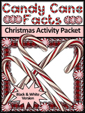 Christmas Reading Activities: Candy Cane Facts Christmas Activity - BW Version