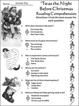Christmas Language Arts Activities: The Night Before Christmas Activity Packet