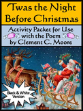 Christmas Language Arts Activities: The Night Before Christmas Activities - BW