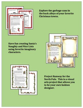 Christmas Activities:  Writing Projects with a unique approach