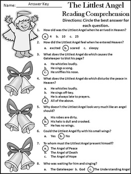 Christmas Language Arts Activities: The Littlest Angel Activity Packet