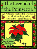 Christmas Reading Activities: The Legend of the Poinsettia Activity Packet - BW