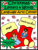 Christmas Language Arts Activities: Christmas Stocking Letters & Word Puzzles-BW