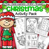 Christmas Activities and Printables NO PREP for Preschool and KIndergarten