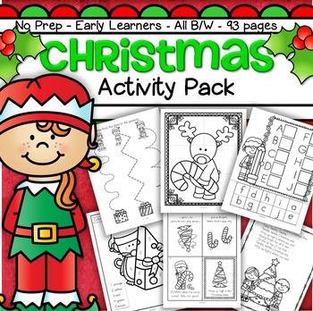 Printable Christmas Activities For Kindergarten.Christmas Activities And Printables No Prep For Preschool And Kindergarten