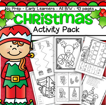 Christmas Activities and Printables NO PREP for Preschool