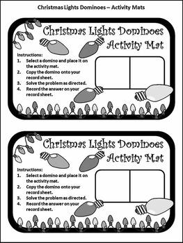 Christmas Math Activities: Christmas Lights Dominoes Christmas Game Activity