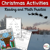 Christmas Activities: Color by Number, Puzzles, Connect the Dots, and More