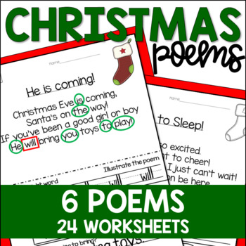 Christmas Poems and Activities for Sight Words