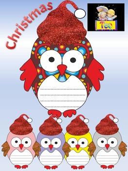 Christmas Activities - Glitter Christmas Owls