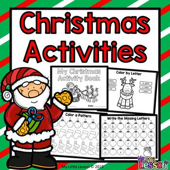 Christmas Worksheets: Math and English