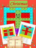 Christmas Activities - Gift - Mystery Picture - Math - Editable templates