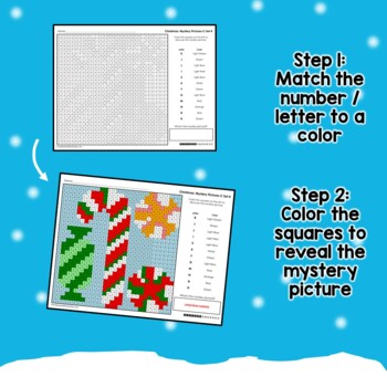 Christmas Coloring Sheets Color by Number Activity