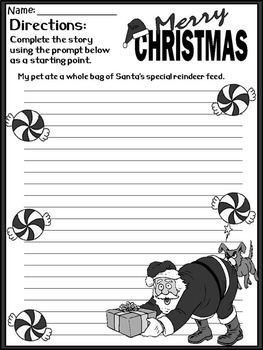 Christmas Activities: Christmas Writing Prompts