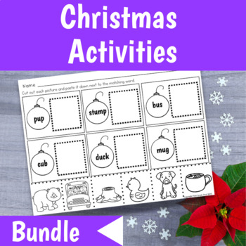 Math and Reading Christmas Activities for First Grade