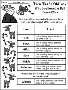 Christmas Language Arts Activities: Old Lady Who Swallowed a Bell Activities