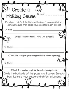 Winter Holidays  Activity Set of Mad Libs, Math, Skits, and Writing Prompts