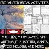 Pre-Winter Break Activities {Mad Libs, Math, Skit Writing: