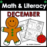 December Math and Literacy Centers- No Prep