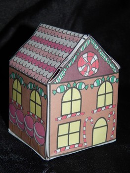 Christmas Activities: 3D Miniature Gingerbread House Christmas Craft & Gift Box