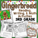 3rd Grade Gingerbread Reading, Writing, and Math: Christmas Activities