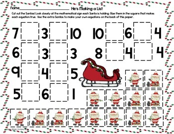 Christmas Activities {A Bundle of 5 Printable Math and Literacy Resources}