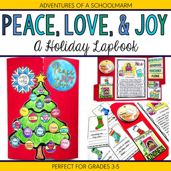 Christmas Holiday Lapbook | Peace Generosity and Kindness for 3rd 4th 5th