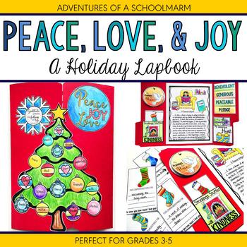 Christmas Holiday Lapbook focuses on Peace Generosity & Ki