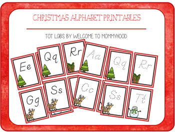 Christmas Activities: Aa-Zz cards