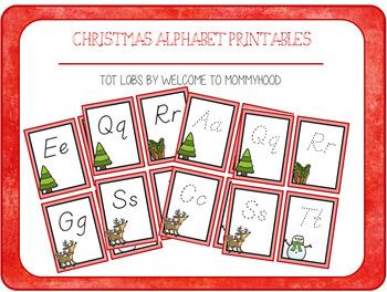 Christmas Activities: Aa-Zz cards