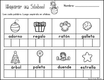 Christmas Activities/ Actividades de Navidad (Spanish) NO PREP