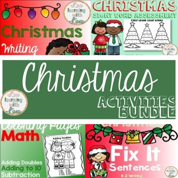 Christmas Activities BUNDLE First Grade Growing Resource
