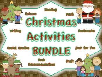Christmas Activities BUNDLE: Multiple Subject Areas