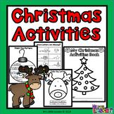 Christmas Activities: Math and English Worksheets
