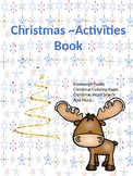 Christmas Activities Work Book