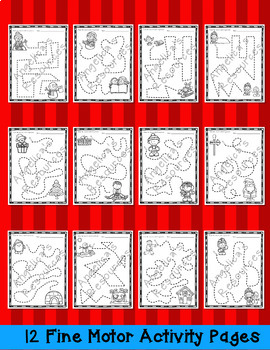 Christmas Activities Bundle #2: Literacy, Math, ABC Mini Book, Tracing, & Crowns