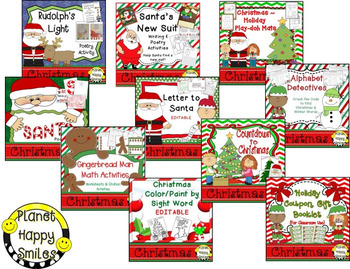 Christmas Activities Mega Bundle ~ 32 Fun Language, Math, & Science Activities