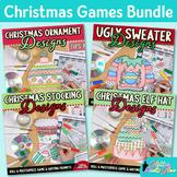 Christmas Activities Bundle | Direct Drawing Game, Art Sub Plan & Writing Prompt