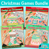 Christmas Activities Bundle: Direct Drawing Game, Art Sub Plan & Writing Prompt